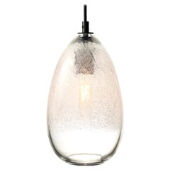 Hand Blown Lighting, Clear Cone Bubble Pendant