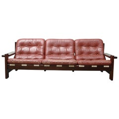 Arne Norell Style Leather Sofa