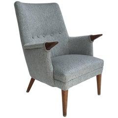 Danish Papa Bear Lounge Chair with Teak Paws