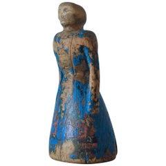 Allmoge Wooden Doll, Origin Jämtland, Sweden, circa 1800