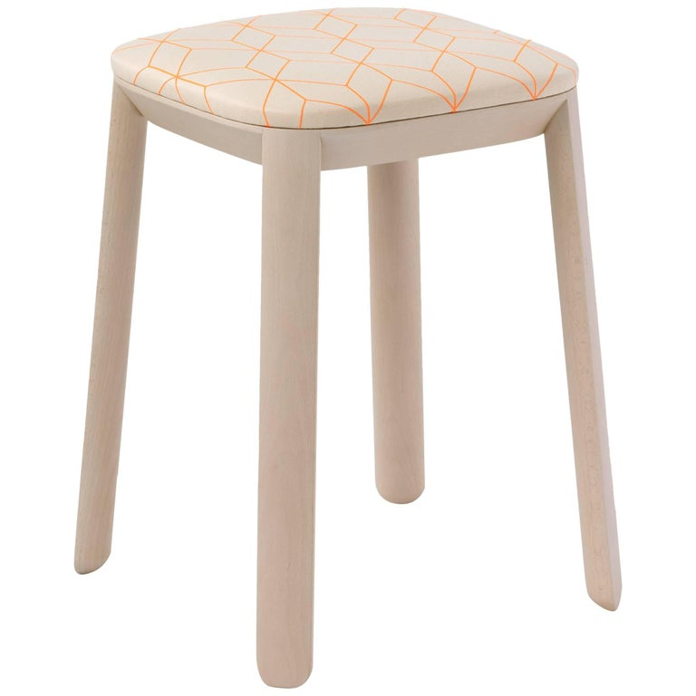 Maharam Covered Stool By Scholten And Baijings For Sale At