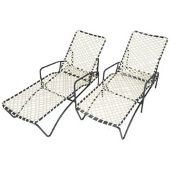 """Pair of Brown Jordan """"Tamiami"""" Adjustable Patio Chaise Lounges"""