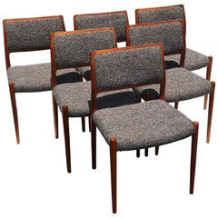 Set of Six Niels Moller Teak Chairs