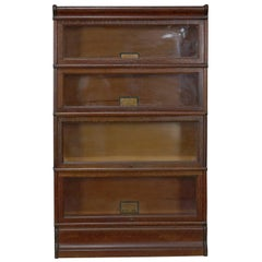 Antique Quarter Sawn Oak Four-Stack Barrister Bookcase by Globe-Wernicke Co.