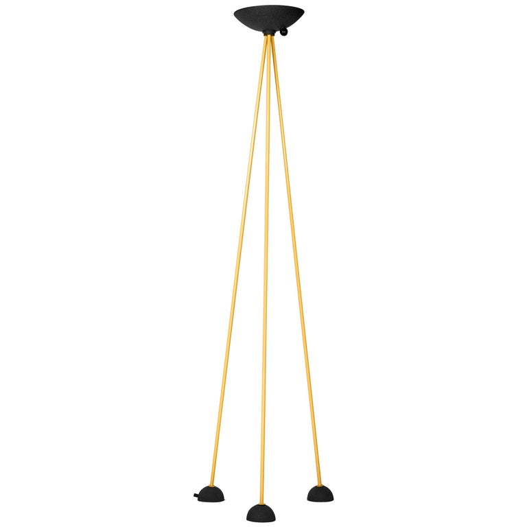 Floor Lamp in the Style of Memphis by Koch and Lowy in Black and Yellow, 1980s