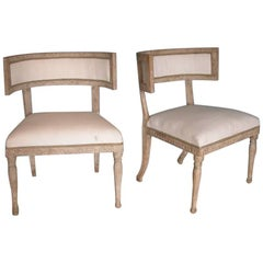 Ephraim Ståhl, attributed to Sulla Chairs, Pair, circa 1790