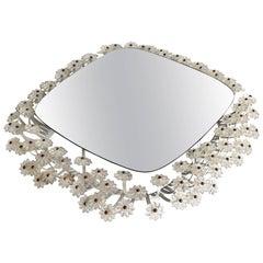 Emil Stejnar Backlit Flower Mirror for Rupert Nikoll, 1950s Austria