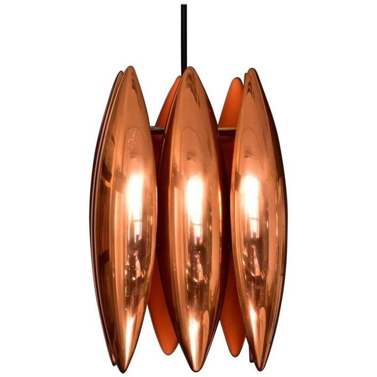 Jo Hammerborg Copper Ceiling Pendant lamp Kastor for Fog & Mørup, Denmark