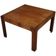 Midcentury Square Coffee Table in Teak, from Denmark, circa 1960