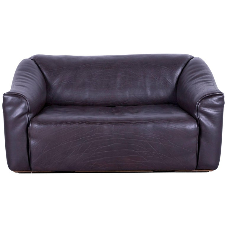 De Sede DS 47 Leather Sofa Brown Two-Seat Couch