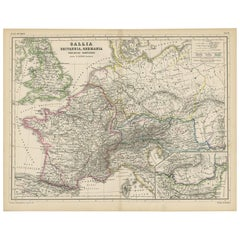 Antique Map of Western Europe by H. Kiepert, circa 1870