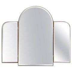 Particular Wall Mirror with Side Fanned Italian Design, 1970