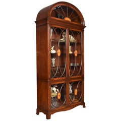 Mahogany Inlaid Dome Top Cabinet