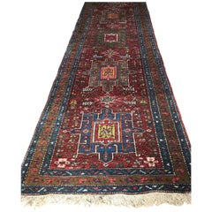 Antique Carpet Runner, Iran Runner Rugs from Heriz First Quarter of 20th Century