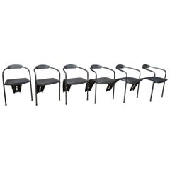 Set of Six Design Metal Chairs, 1980s