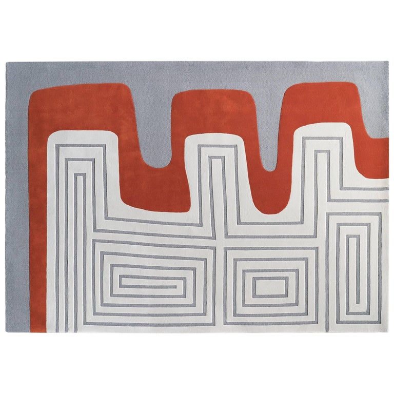 Meander Rug by Dare to Rug in New Zealand Wool