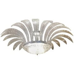 Murano Clear Glass Palm Chandelier