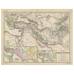 Antique Map of Part of the Roman Empire by H. Kiepert, circa 1870