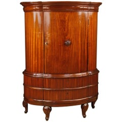French Wardrobe in Carved Mahogany Wood from 20th Century