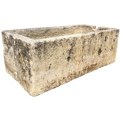Huge French Hand-Carved Limestone Trough