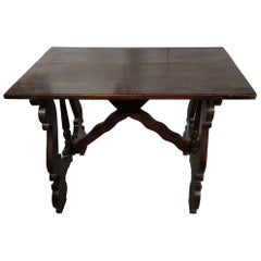 Antique Spanish Small Size Table, 18th-19th Century
