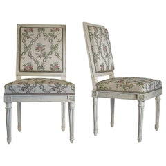 Pair of Chairs Late 18th Century Louis XVI Period by Georges Jacob, circa 1780