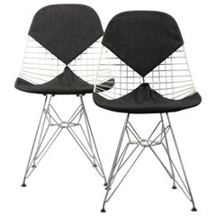 Pair of Early Bikini Chairs by Charles & Ray Eames DKR Dining Chair