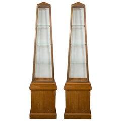 Pair of Obelisk Display Vitrines by Andre Arbus