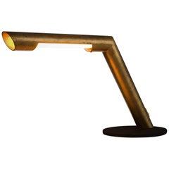 Oblique Desk Light in Brass