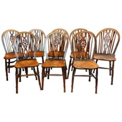Set of Eight Antique Windsor Chairs