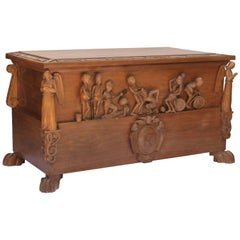 Hand-Carved 1950s Toy Box