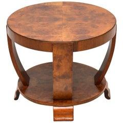 1920s Art Deco Burr Walnut Coffee Table