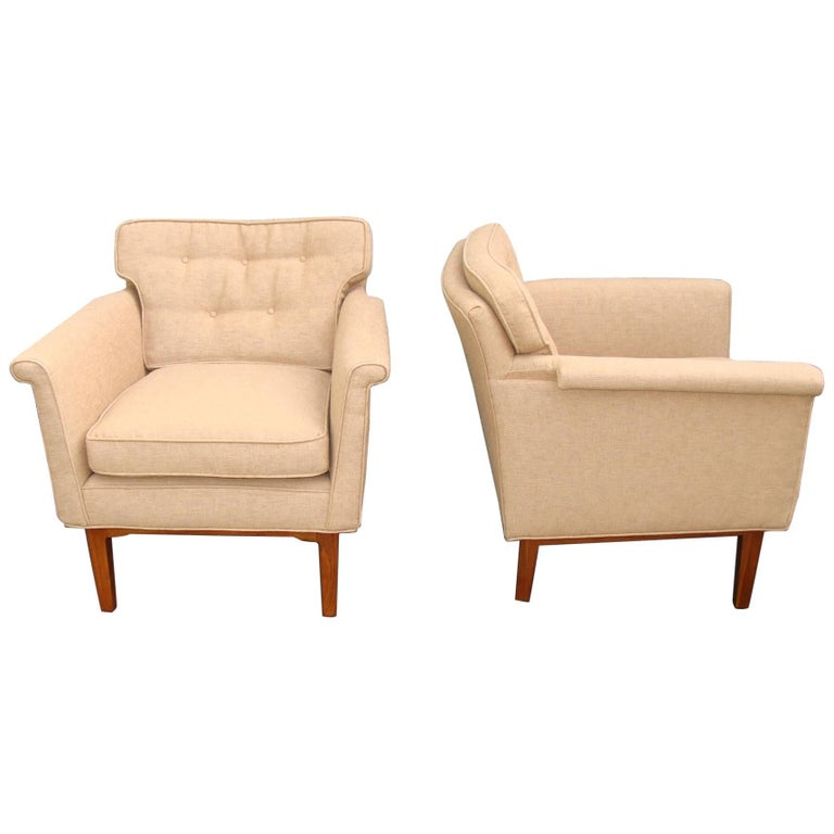 """Pair of Armchairs Edward Wormley """"Janus"""" Collection"""