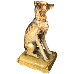 Italian Long-Haired Hound Dog Figure