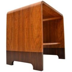 1920s Art Deco Walnut and Wood Coffee Table