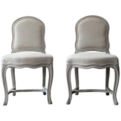 Pair of Unusual 18th Century French Louis XV Chairs