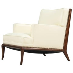 T.H. Robsjohn-Gibbings Leather Lounge Chair for Widdicomb