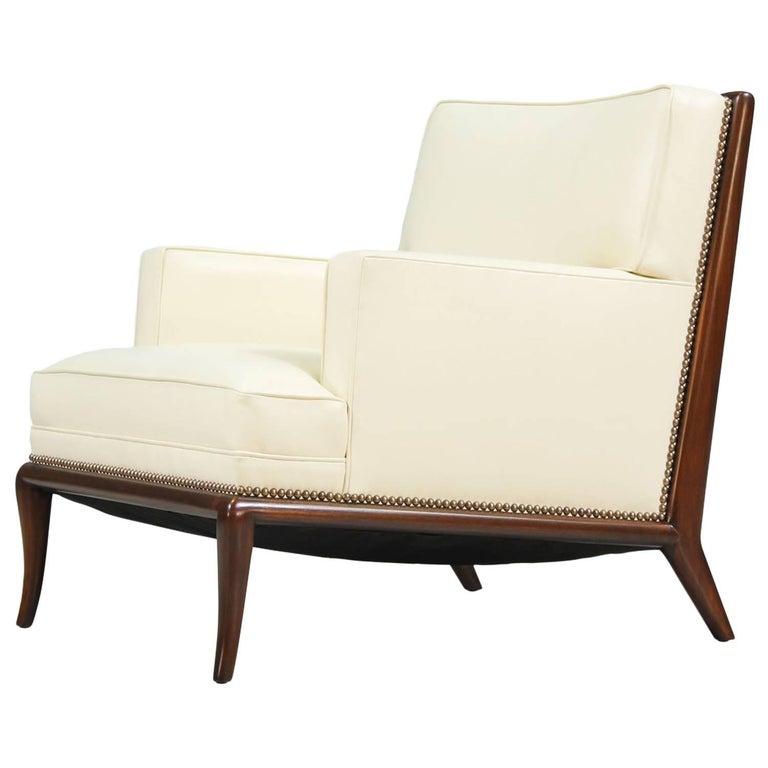 T.H. Robsjohn-Gibbings Leather Lounge Chair for Widdicomb