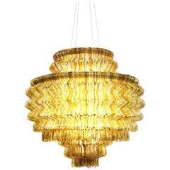 Brilli C Chandelier in Gold Resin by Jacopo Foggini