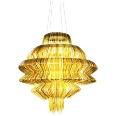 Brilli D Chandelier in Gold Resin by Jacopo Foggini