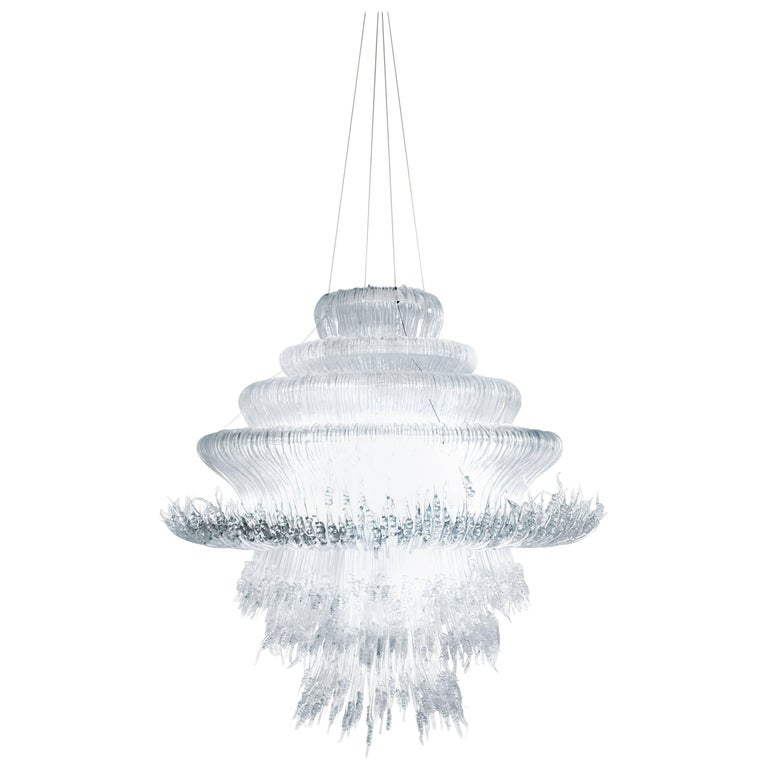 Sneeze A Chandelier in Transparent Resin by Jacopo Foggini