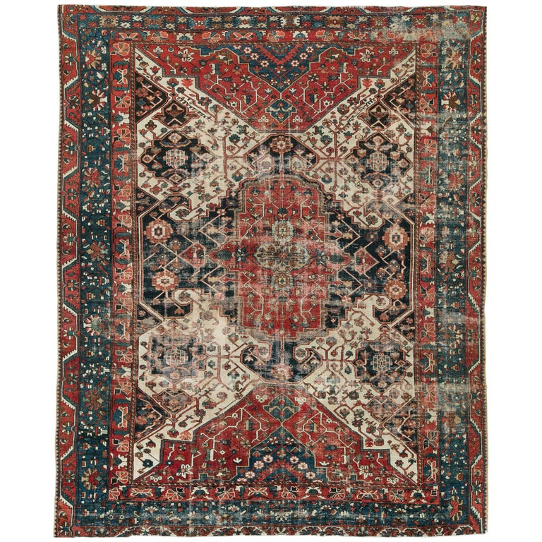 Antique Persian Bakhtiari Rug For Sale