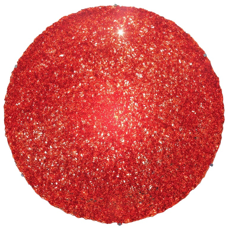 Tondo 180 Wall Light in Red Polycarbonate by Jacopo Foggini