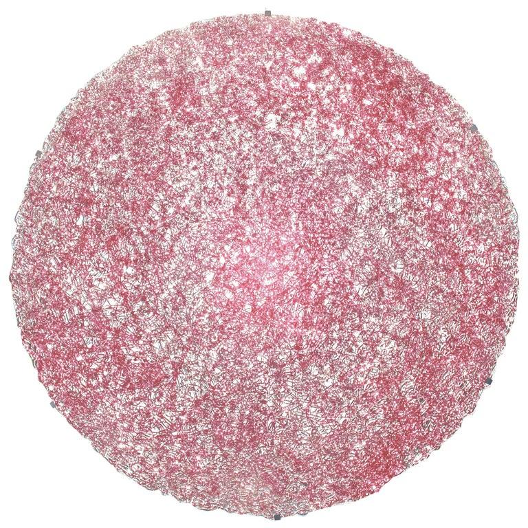Tondo 180 Wall Light in Cipria Pink Polycarbonate by Jacopo Foggini