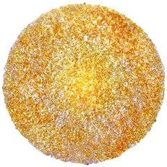Tondo 180 Wall Light in Gold Polycarbonate by Jacopo Foggini