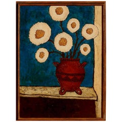 William Tull Painting, Still Life in Mexican Pot