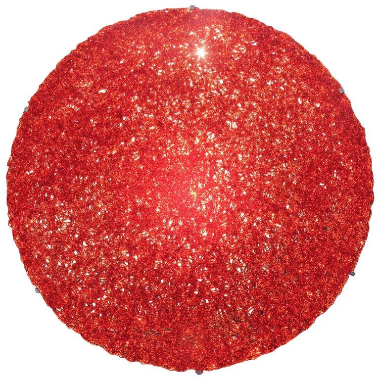 Tondo 120 Wall Light in Red Polycarbonate by Jacopo Foggini