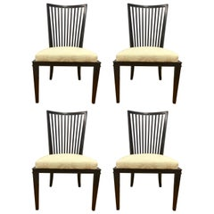 Barbara Barry Collection for Baker Furniture Set of Four Dining Room Chairs