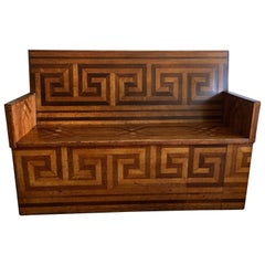 Neoclassical Parquetry Bench