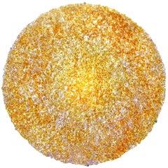 Tondo 120 Wall Light in Gold Polycarbonate by Jacopo Foggini